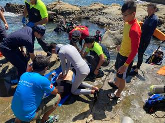 潮境公園驚傳1男溺水 警消急送醫