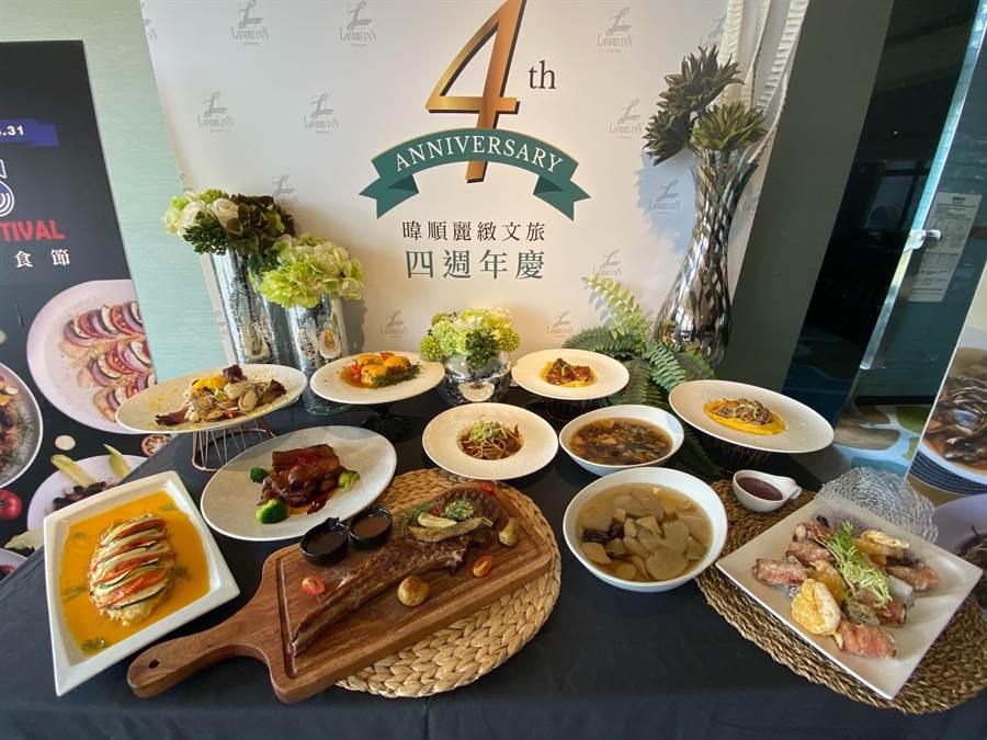 暐順麗緻4周年慶特別於凡爾賽西餐廳及聖香樓中餐廳分別推出「美國美食節」及「夏序鮮果宴」。(陳育賢攝)