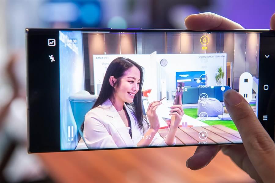 預購三星全新的Galaxy Note20系列,上網登錄即送Galaxy Buds Live真無線藍牙耳機,搭配全新的專業影片模式更實用。(三星提供)