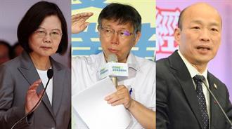 高市長補選/選前之夜重磅對決  蔡英文、韓國瑜、柯文哲另類交鋒