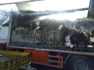 2萬件隔離衣遇火燒車被燒毀 國家隊聚陽霸氣回應:貨足再送新的