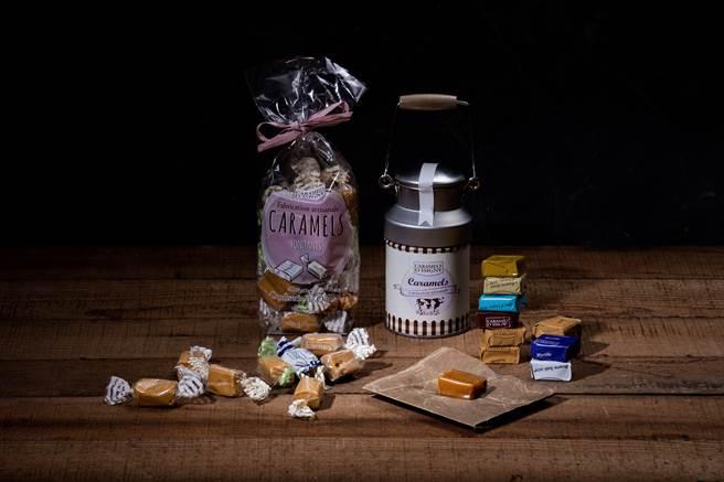頂級款禮盒附有超吸睛的海鹽焦糖糖果乳牛罐。(圖/品牌提供)