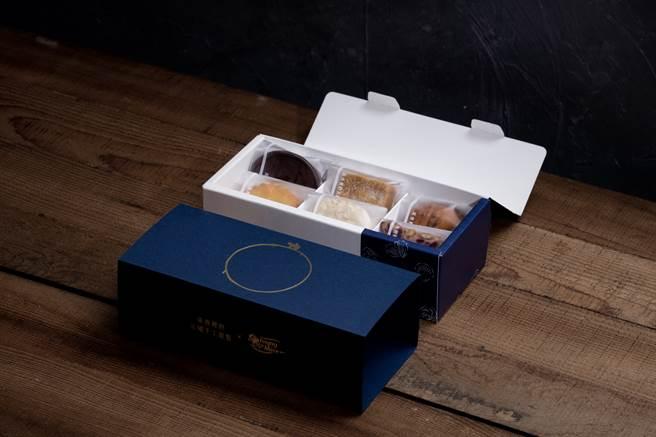 深夜裡的法國手工甜點和依思尼合作推出聯名中秋禮盒,圖中為精選款。(圖/品牌提供)