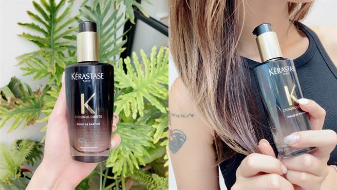 黑鑽極萃逆時玫瑰香氛露添加全新黑鑽植萃精華油,結合摩洛哥油、葵花籽油、茉莉精油和沒藥精油,能有效修復脆弱髮、提升防禦力、保濕潤澤、對抗毛躁,使秀髮更易梳理。深受歡迎的迷人香調全新再進化,髮香更持久。(圖/邱映慈攝影)