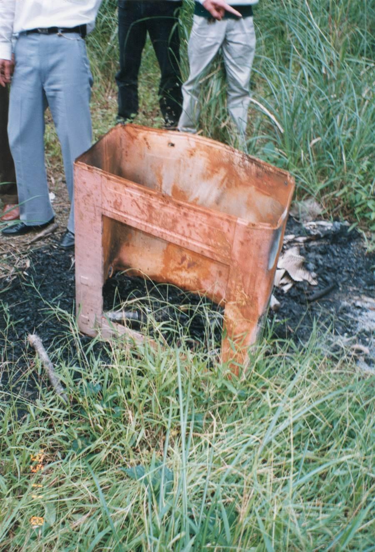 游豐山勒斃陳女後,即在別墅後方將陳女的屍體予以焚毀。(何叔娟攝)