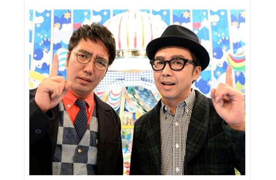 日本知名搞笑組合「小木矢作」成員小木博明(左)確診腎細胞癌。(取自日網)