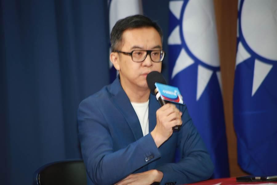 國民黨文傳會副主委黃子哲。(趙婉淳攝)