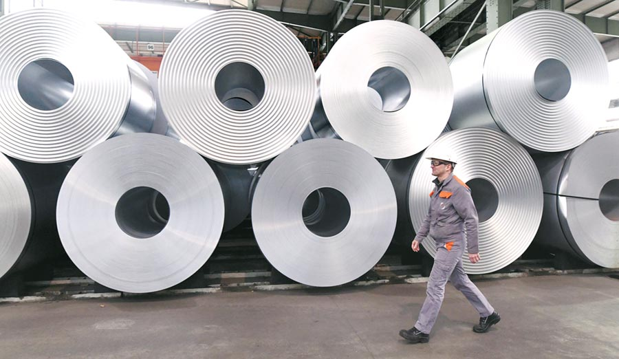 中鋼執行副總表示,希望在這種趨勢下,能激勵客戶需求釋放,落實拉升價格。圖/路透
