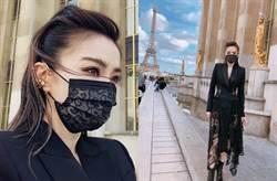 姐姐聯名蕾絲口罩搶手賣天價 謝金燕又曬新款竟「不用排隊」
