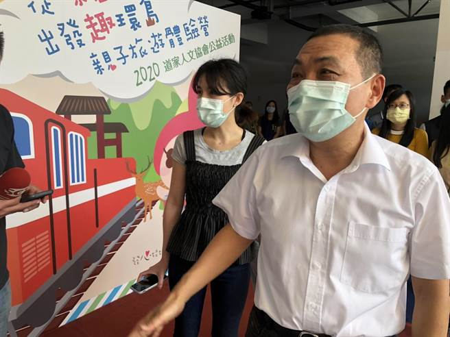 新北市長侯友宜對於前高雄市長韓國瑜選前之夜的「鵝蛋說」,直呼聽不懂。(許家寧攝)