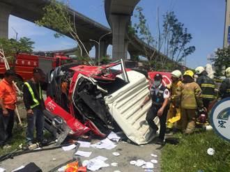 驚悚!高雄水泥車衝出高架橋墜30公尺 司機送醫不治