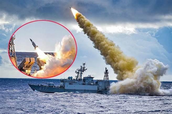 圖為 海軍艦艇發射飛彈,示意圖。(圖/本報資料照)