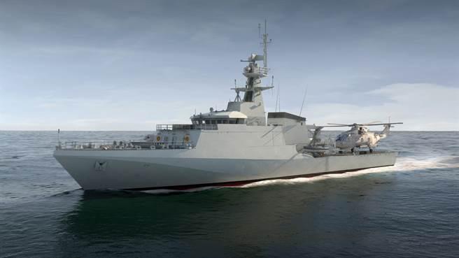 英國最新巡邏艦特倫特號。(圖/英國皇家海軍)