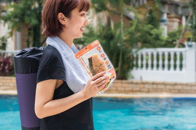 美威推出的鮭魚菲力-義式香草,顛覆消費者對「健身餐即是雞胸肉」的既定印象。圖/業者提供