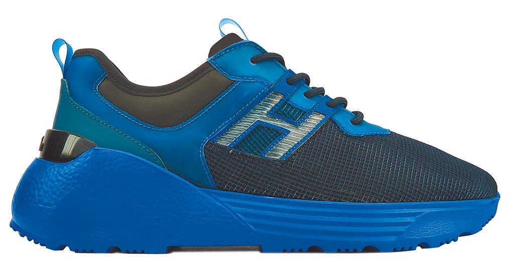 HOGAN Active One藍色網狀面料休閒鞋,1萬9600元。(HOGAN提供)