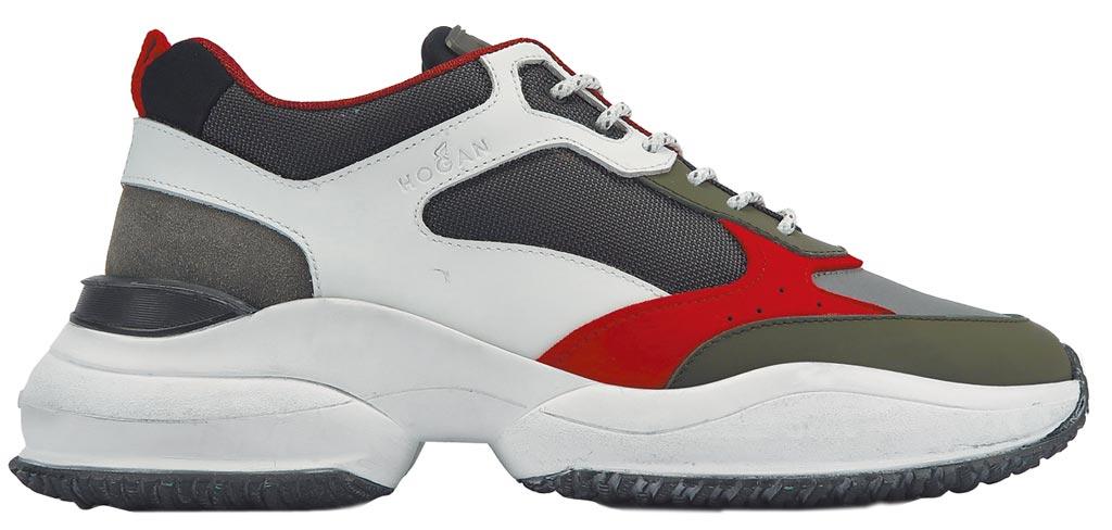 HOGAN Interaction拼接皮革休閒鞋,1萬9600元。(HOGAN提供)