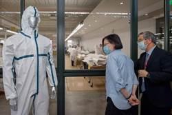 參訪防護衣業者 蔡英文:台灣企業技術實力堅強
