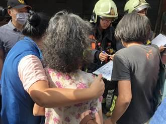 新莊民宅大火尋獲1焦屍 70歲老母返家滿臉茫然