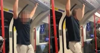 倫敦地鐵出現種族歧視 白人男子嗆非裔乘客反遭對方一拳打倒在地昏迷