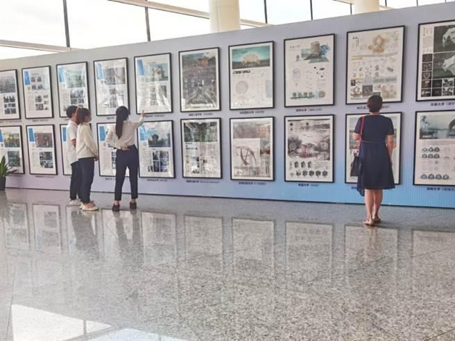 本次參展作品共收集了 55份優秀建築學專業設計作品,參展學校包括清華大學、東南大學、哈爾濱工程大學等高校以及臺灣多所高校。(中建海峽杯提供)