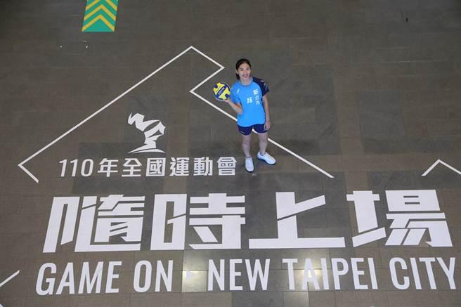 新北排球代表選手陳姿雅是國家隊及台電女排成員。(新北市政府體育處提供)