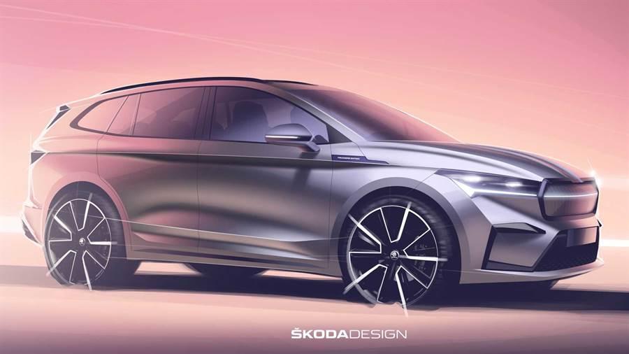 Skoda ENYAQ iV 純電 SUV 外觀設計草圖露出、9/1 全球首發!