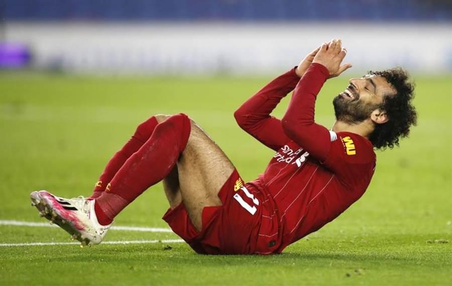 英超足球隊利物浦Mohamed Salah射門未進。(美聯社資料照)