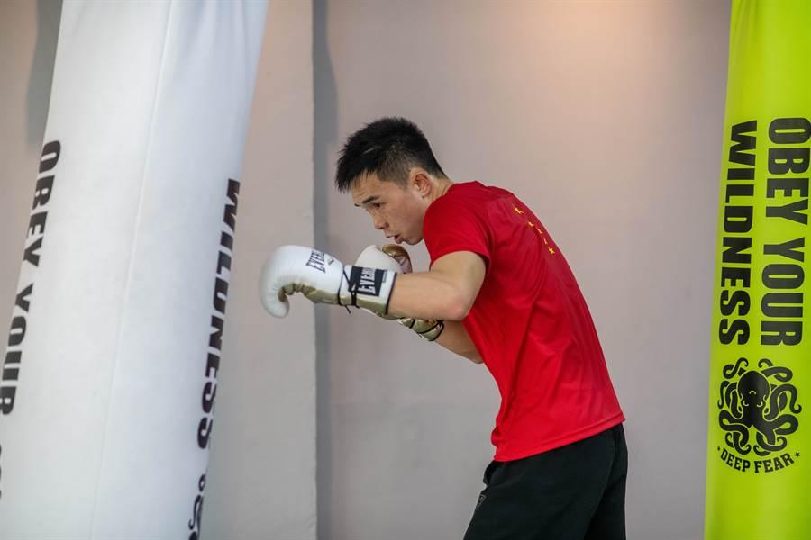 大陸拳王徐燦,日前在10秒的時間內出拳111次,影片瘋傳紅遍全球。(新華社資料照)
