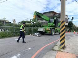 豐原孕婦騎車遭吊車追撞 2歲女童卡輪下慘死