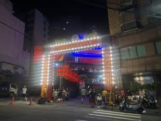 基隆老大公廟起燈腳 揭開雞籠中元祭序幕