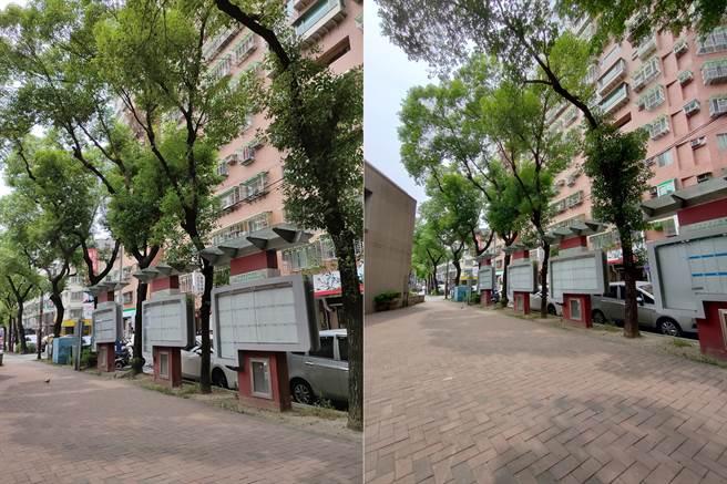 realme X3廣角vs超廣角照片。(黃慧雯攝)