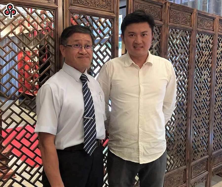 台北畜產公司董事長葉文忠(左)、總經理姚量議(右)今天上午雙雙請辭。(本報資料照片)