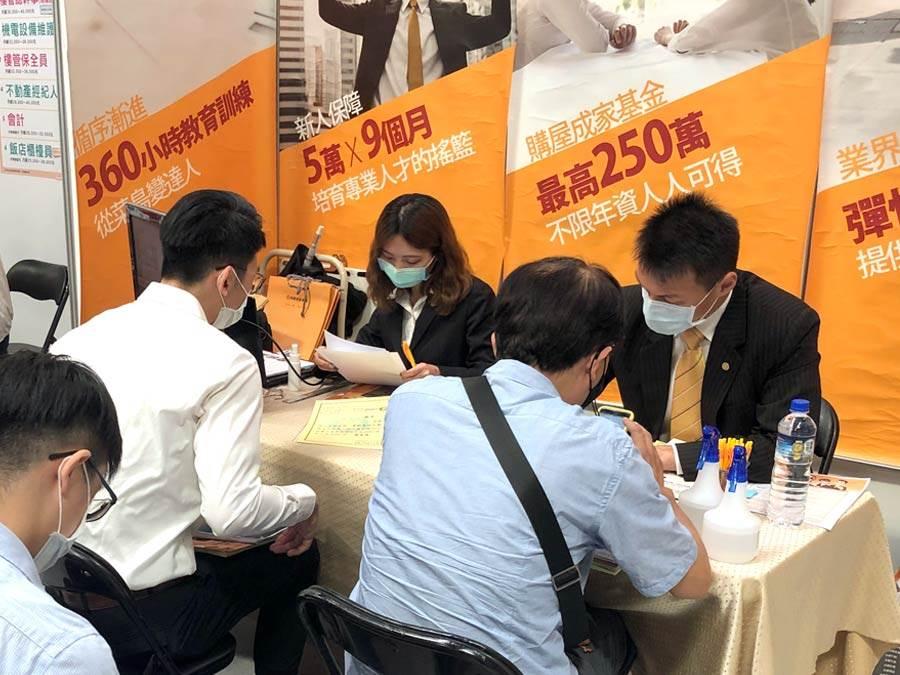 因疫情趨緩,永慶房屋今年首度前進就業博覽會,並推出「先到職再當兵」計畫。