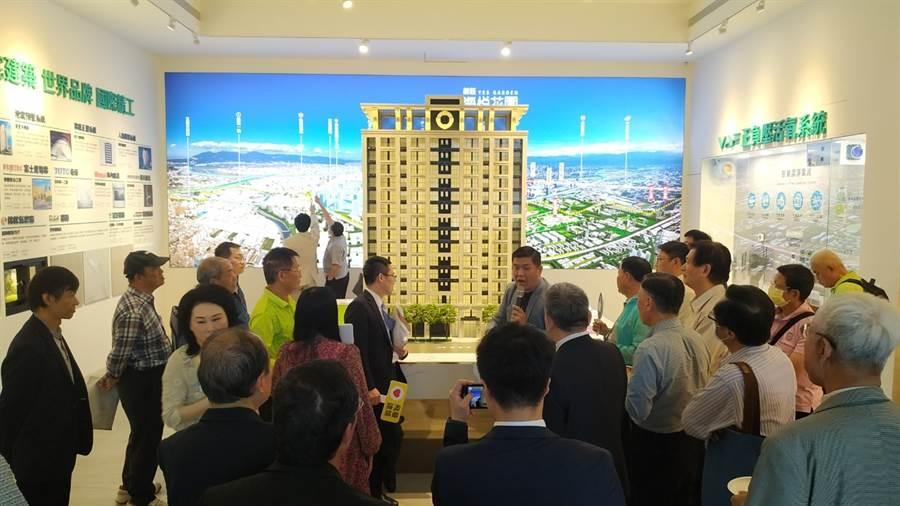 上新莊塭仔圳內港泰重劃區推出首案「新莊海悅花園」,近期銷售已達85成。(業者提供)