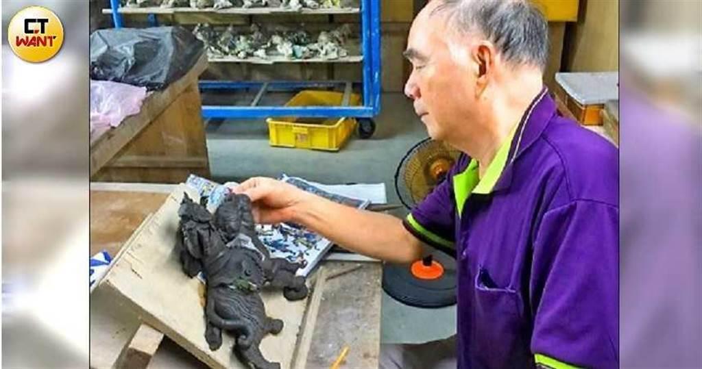 陳義雄沿襲洪派特色,作品則以精緻、耐用和品質好聞名,是享譽國際的交趾陶大師。(圖/讀者提供)