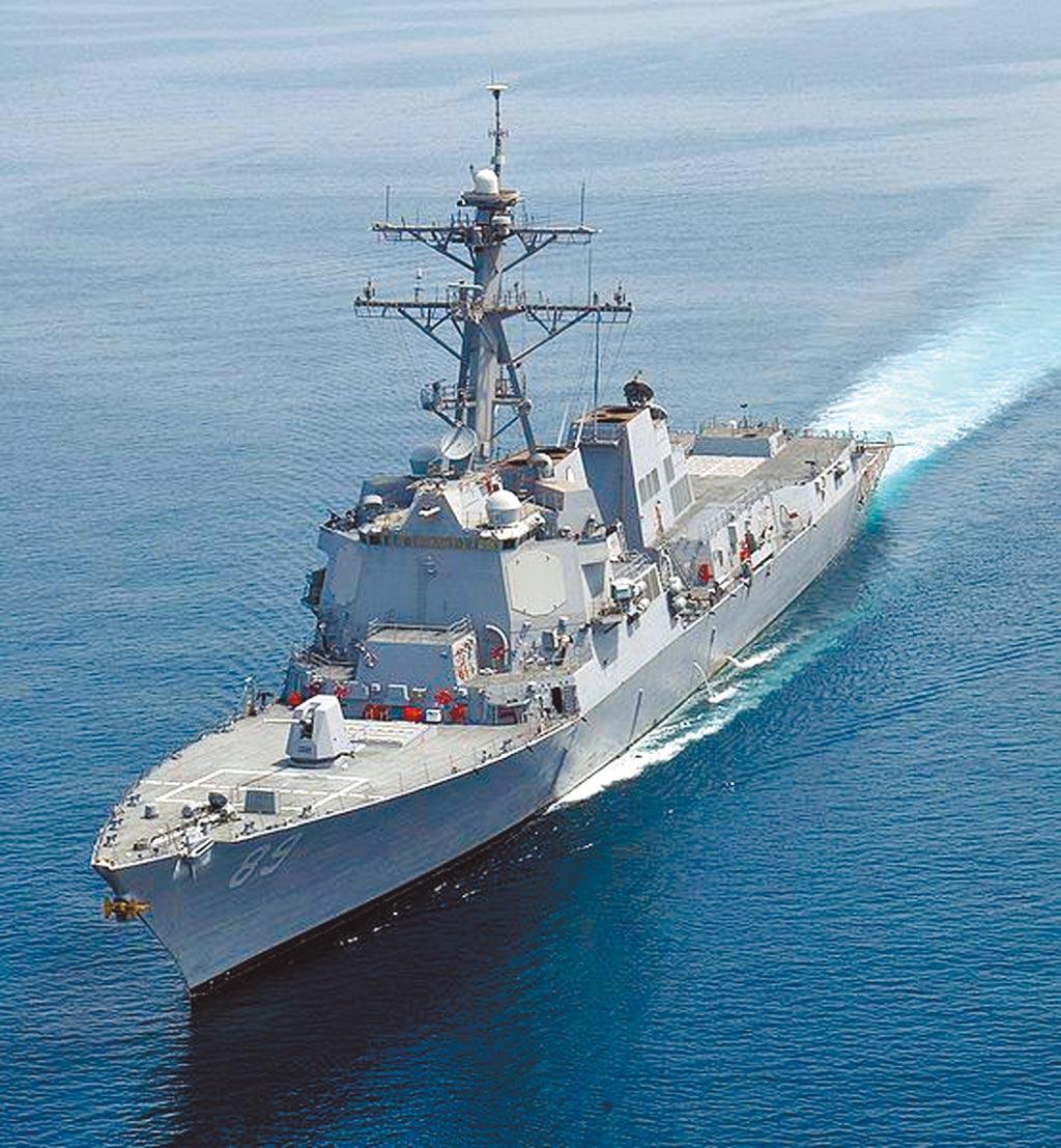 現階段陸美兩軍在台海相遇時,相互有默契遵守準則,嚴守安全距離。圖為美國海軍伯克級神盾驅逐艦馬斯廷號(USS Mustin )。(摘自美國海軍官網)