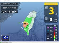 地牛翻身台南六甲連4震 有人被嚇到腿軟