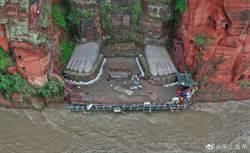 水退了!四川樂山大佛露腳趾 民眾齊聲歡呼