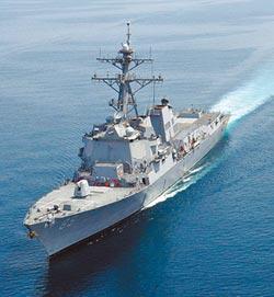 美驅逐艦穿台海 罕見走中線以西