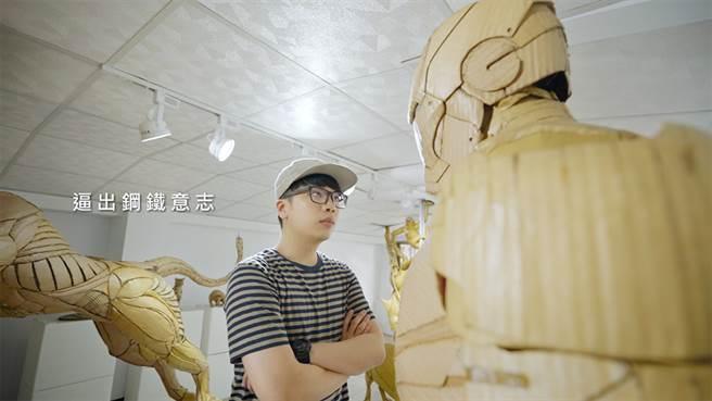 鍾凱翔的作品生氣蓬勃且有著滿滿自信/遠雄人壽提供
