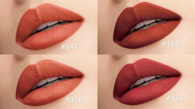全新赤裸楓紅系列唇部試色。(圖/品牌提供)