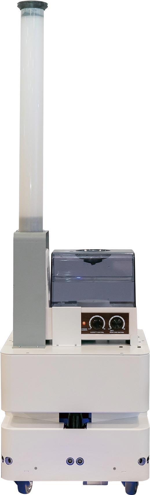 防疫機器人展現東元智慧移動平臺(AGV)更多元應用。圖/東元提供