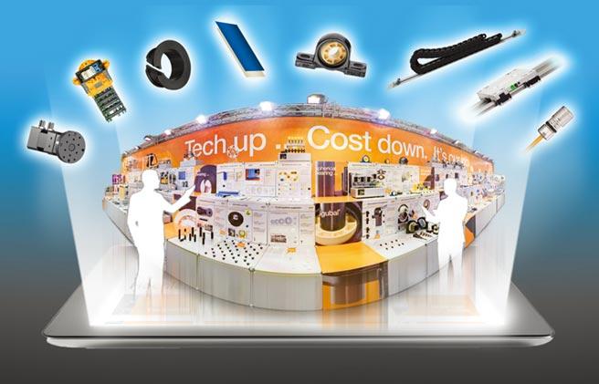 連線參觀igus在德國科隆的攤位,150個顯示螢幕和40支影片,足以向參觀者展示100多款動態工程塑膠的創新產品。圖/igus GmbH提供