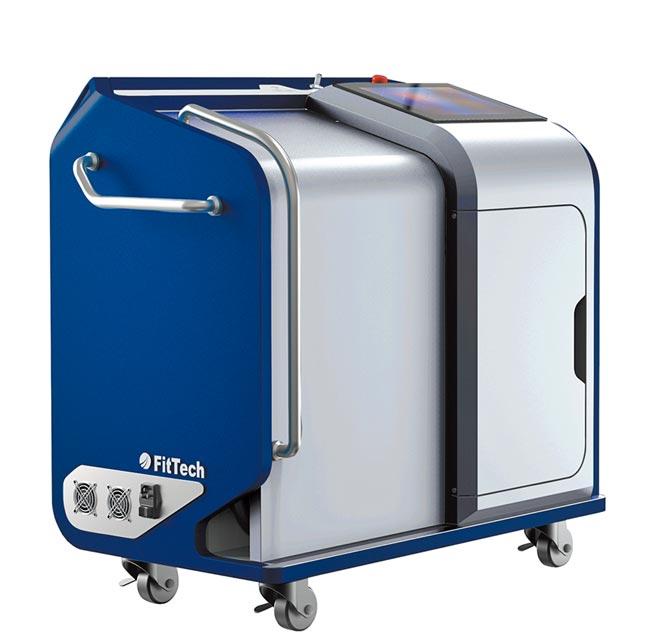 惠特最新推出的手持式雷射除鏽清洗機。圖/業者提供
