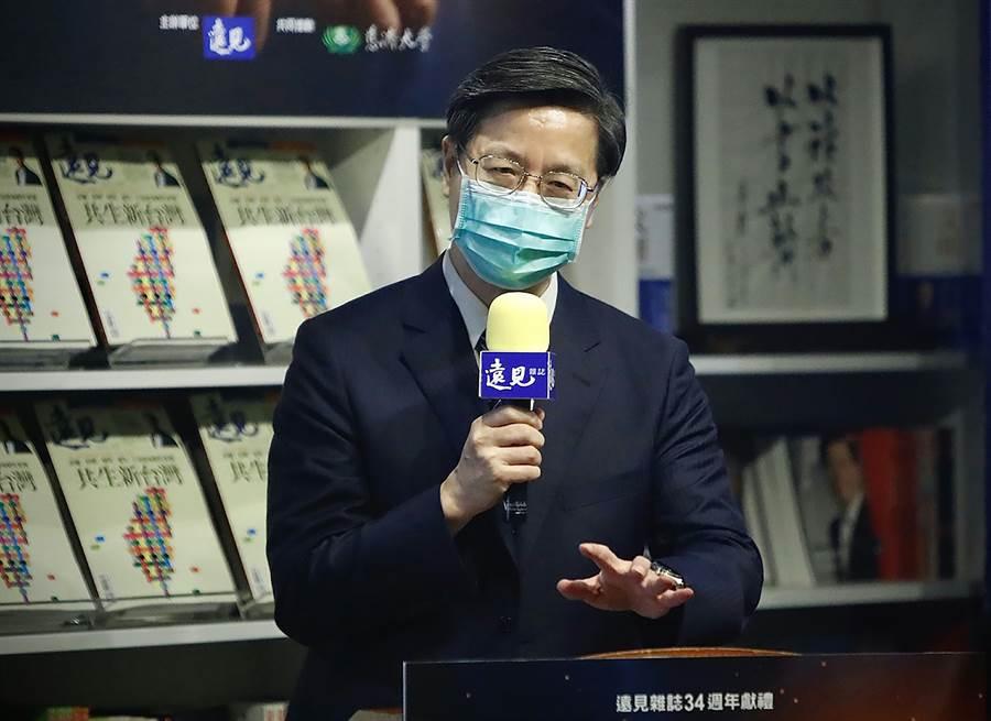 中央流行疫情指揮中心專家諮詢小組召集人張上淳。(中央社實習記者曾守一攝)