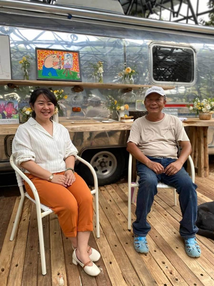 (游道生(右)與東湧董事長吳和臻一拍即合,攜手打造夢幻渡假園區。圖/業者提供)