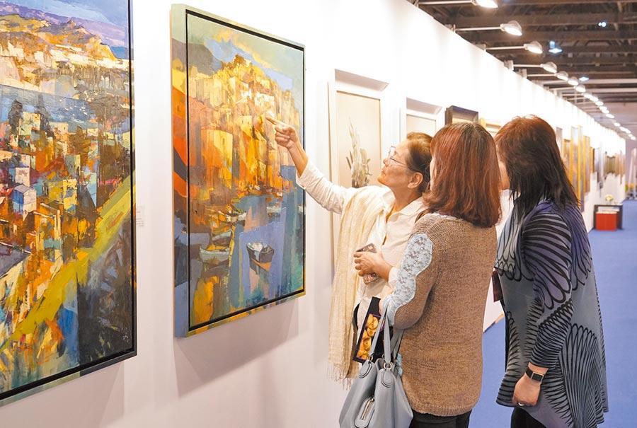 「2020台北新藝術博覽會.番外篇」讓民眾在台灣也有「類出國」的藝術作品可欣賞。(台北新藝術博覽會提供)
