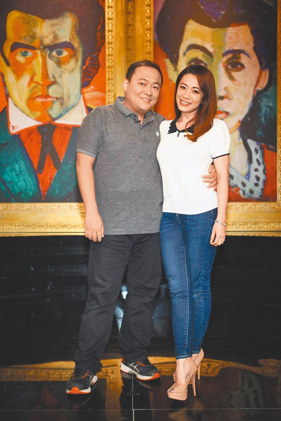 柯以柔(右)和郭宗坤夫妻情斷,她向法院申請查封房子就是要他給錢負責任。(資料照片)
