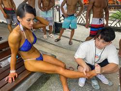 花蓮比基尼健身女郎出風頭 幕後推手蕭江宗元鼓勵全民健身