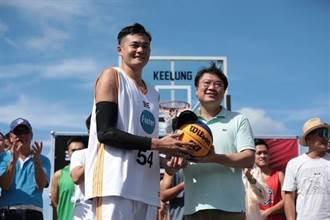 国际三对三篮球赛基隆港边开打 林右昌化身「灌篮高手」超吸睛